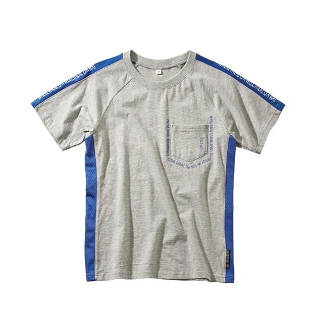 脇メッシュ切替え半袖Tシャツ(男の子 子供服。ジュニア服) Tシャツ・カットソー