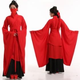 二枚送料無料 中華服 中国風古代衣装 漢服唐装 チャイナ風cosplay仮装イベント 文化祭舞台衣装 袖ダンス 古典ダンス衣装