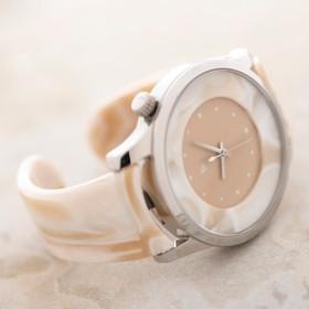 1b623175a6 腕時計 鯖江バングルウォッチ ビッグフェイス ホワイトモザイク 通販 ...