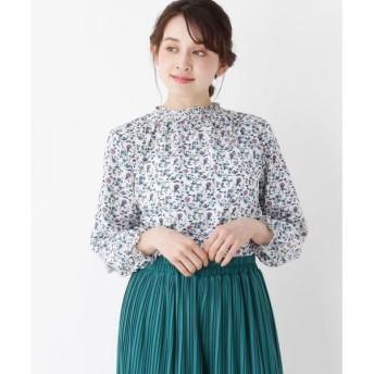 SHOO・LA・RUE / シューラルー 花柄シャーリングブラウス