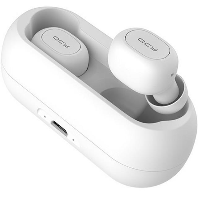 フルワイヤレスイヤホン QCY-T1WH(QCY-01WH) ホワイト QCY-01WH [マイク対応 /ワイヤレス(左右分離) /Bluetooth]