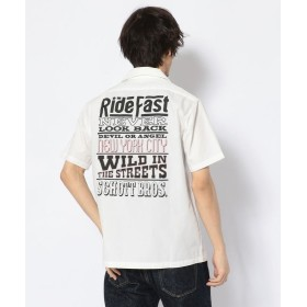 【30%OFF】 ショット T/C WORK SHIRT RIDE MESSAGE/ワークシャツ ライド メッセージ メンズ WHITE S 【Schott】 【セール開催中】
