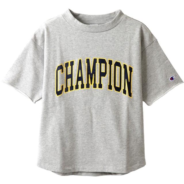4f5539656e090e ウィメンズ ショートスリーブクルーネックスウェットシャツ 19SS チャンピオン(CW-P011)【5400. トップ レディースファッション トップス  Tシャツ・カットソー