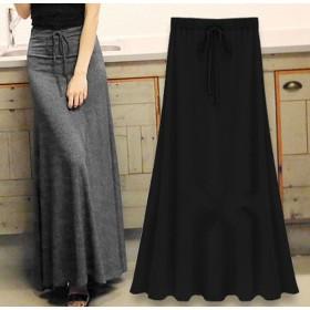 スカート マキシスカート とろみスカートロングスカート フレア マキシ丈 大きいサイズ Aライン カラバリ豊富 レディース ボトムス