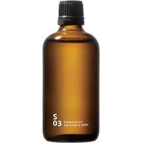piezo aroma oil(スクエアー専用) Supplement air(サプリメントエアー) スタディー&ワーク(100mL)[ブレンドエッセンシャルオイル]