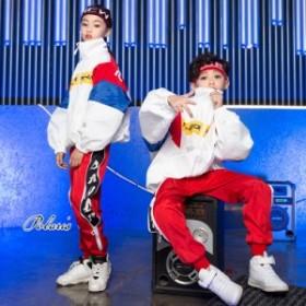 キッズ ダンス衣装 ヒップホップ HIPHOP セットアップ ジャケット 男の子 女の子 ダンスパンツ ジャズダンス ステージ衣装 練習着 体操服