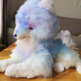 紫青の幻獣 幼獣 アートドール ぬいぐるみ
