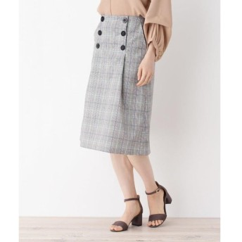 grove / グローブ 前釦チェック柄Aラインスカート
