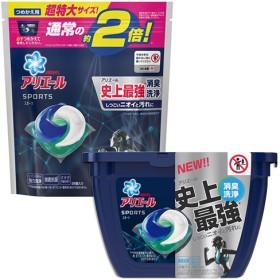 アリエール 洗濯洗剤 ジェルボール3D プラチナスポーツ 本体+つめかえ (1セット)