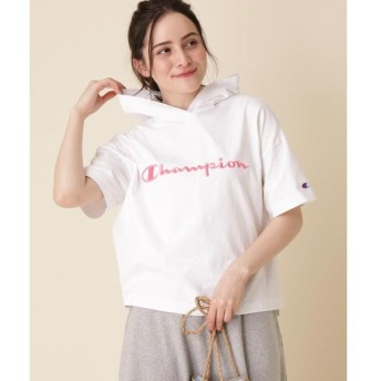 Couture Brooch / クチュールブローチ 【WEB限定販売】Champion(チャンピオン)フーデット5分袖プルオーバー