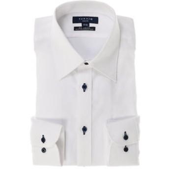 【TAKA-Q:トップス】形態安定スリムフィットレギュラーカラー長袖ビジネスドレスシャツ