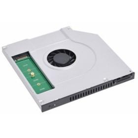 【サンコー 光学ドライブを冷却クーラーとSSDにできちゃうキット SSDCLER2 1セット】[代引選択不可]