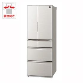シャープ SJ-F462E-S 455L 6ドア冷蔵庫(シルバー系)SHARP プラズマクラスター冷蔵庫[SJF462ES]【返品種別A】