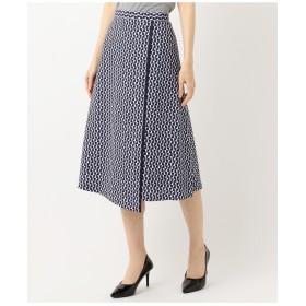 自由区 Class Lounge OPTICAL PRINT スカート