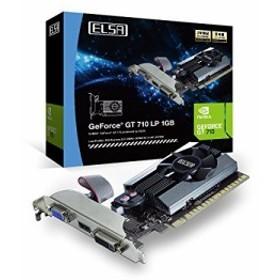 送料無料★ELSA GeForce GT710搭載 グラフィックスボード ( DDR3 2GB / ロープロ対応 / 静音 / マルチモニター出力対応