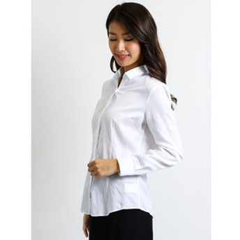 【TAKA-Q:トップス】形態安定レギュラーカラースキッパー切替長袖シャツ