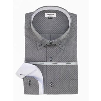 【GRAND-BACK:トップス】【大きいサイズ】レノマオム/renoma HOMME 形態安定3枚衿ボタンダウン長袖ビジネスドレスシャツ