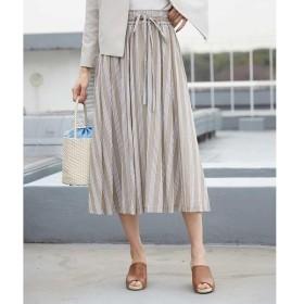 MICHEL KLEIN / ミッシェルクラン 【InRed5月号掲載】【洗える】コットンシフォンストライプギャザースカート
