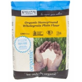 キアラピュアフーズ 有機全粒強力小麦粉(1kg)[小麦粉]