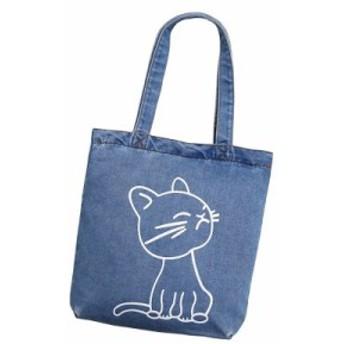 トートバッグ  シンプル レディース キャンバス 軽量 大容量 バッグ 女性 鞄 カジュアル シンプル 男女兼用 鞄 エコバッグ 猫 デニム cat