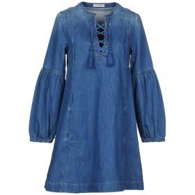 《セール開催中》ULLA JOHNSON レディース ミニワンピース&ドレス ブルー 4 コットン 100%
