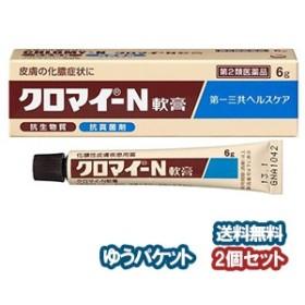 【第2類医薬品】 クロマイ-N軟膏 6g×2個セット  メール便送料無料