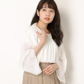 ミックスファクトリー(MIX FACTORY)/【UVケア・手洗いOK】カーディガン風ケープ(レディース)