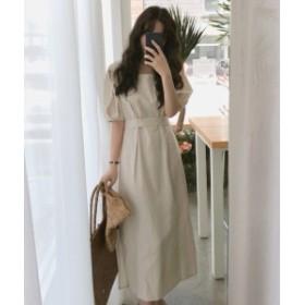 さらっと着れるシンプルなミモレ丈ワンピース ゆるファッション ママファッション m240