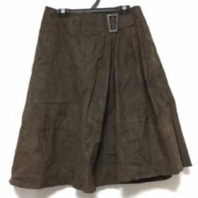 フォクシー FOXEY スカート サイズ38 M レディース ダークブラウン【中古】