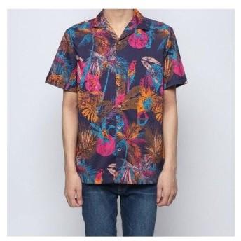 デシグアル Desigual シャツショート袖 (ブルー)