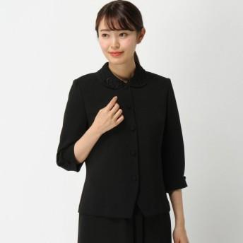 フォーマル レディース 喪服 礼服 ブラックフォーマル スーツ フォーマルレース襟ブラウス【喪服・礼服】 「ブラック」
