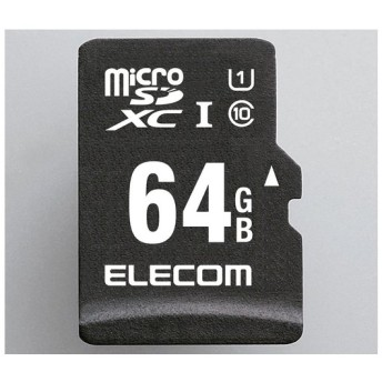 microSDカード SDXC 64GB ELECOM エレコム MF-CAMR064GU11A CLASS10 UHS-I ドラレコ対応