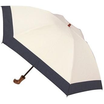 東急ハンズ hands+ 1級遮光 新簡単開閉折りたたみ傘 50cm ベージュ/ネイビー