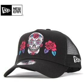 ニューエラ メッシュキャップ 帽子 NEW ERA 9FORTY Aフレーム ブラック メンズ