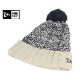 ニューエラ NEW ERA ニット帽 ニットキャップ ポンポン ロウゲージ ビッグ ケーブル ビーニー アイボリー 帽子