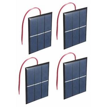 4組 1.5V 0.65W ソーラーパネル専門屋出品 超薄型軽量 携帯型 多結晶フレキシブル ソーラーパネル DIY モジュール