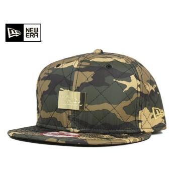 ニューエラ スナップバックキャップ キルテッド ファブリック ウッドランドカモ 帽子