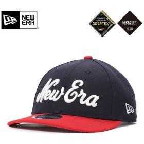 ニューエラ ゴルフ ゴアテックス キャップ 帽子 スナップバック 9FIFTY OLD LOGO ネイビー/スカーレット NEW ERA GOLF GORE-TEX メンズ