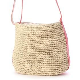 ベース BASE 巾着型 ショルダータイプ カゴバッグ (ピンク)