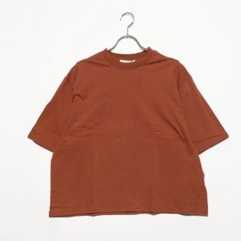 ジーラ GeeRA綿混素材ボックスシルエットTシャツ (ブラウン)