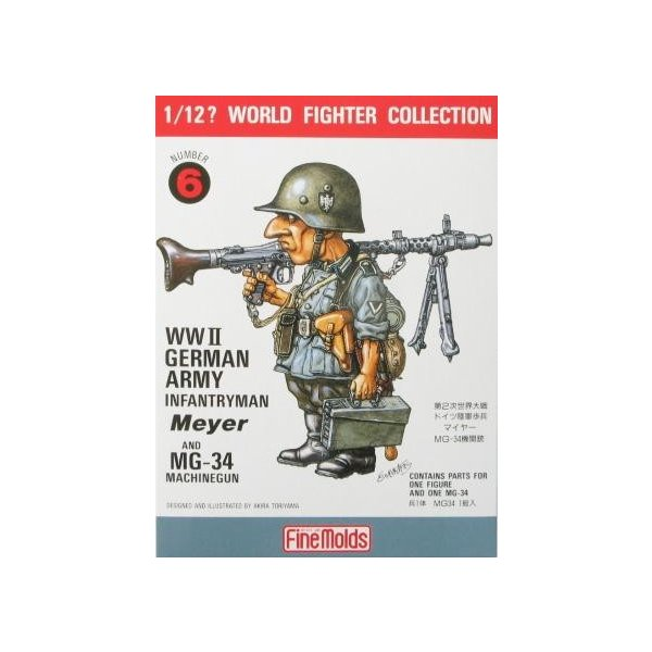 Fine Molds FT6 German Army Infantryman Soldier 1//12 scale kit