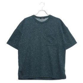 コムサイズム COMME CA ISM ポケット付 ダブルフェイス Tシャツ (グリーン)