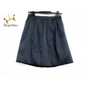 ドゥロワー Drawer スカート サイズ36 S レディース 美品 ネイビー ウエストゴム     スペシャル特価 20190917【人気】