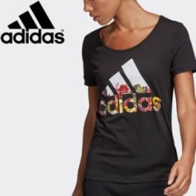 メール便対応 アディダス W 半袖 フラワー Tシャツ レディース FSR83-DX2535