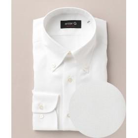 エンタージー オックスボタンダウンシャツ メンズ ホワイト系 40-84 【enter G】