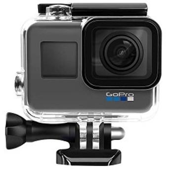 GoPro HERO5/6/7用 超小型 49mまで 高品質防水ハウジングケース レンズを外さないタイプ 水中撮影用 (hero5/6/7 透明)