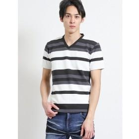 [マルイ]【セール】リップルボーダーVネック半袖Tシャツ/セマンティックデザイン(semantic design)