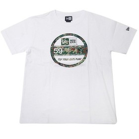 ニューエラ NEW ERA Tシャツ バイザーステッカー セルフディフェンスカモ ホワイト 迷彩柄 (MB)