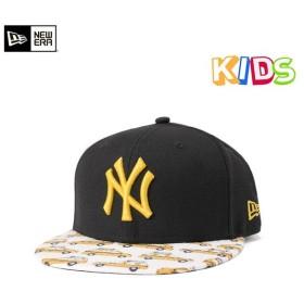 NEW ERA KIDS(ニューエラ キッズ) 9FIFTY キャップ MLB ニューヨークヤンキース タクシー ブラック ホワイト KIDS