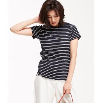 nano・universe 【STORY 6月号掲載】Anti Soaked RIB Tシャツ(パターン2)【返品不可商品】